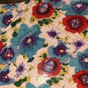 EUC Multi Colored Poppy Scarf